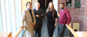The Global Interventions team: Zaman, David, Catriona and Hamilton