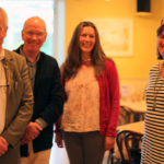 Iain Howie, David Clark, Lesley Ballantine and Lucy at Designs Gallery in Castle Douglas