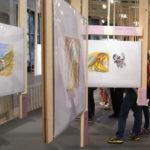 visitors at Luz Profunda (Inner Light) exhibition: courtesy of Nadia Collette