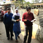 Shahaduz Zaman and community palliative care workers in Korail slum