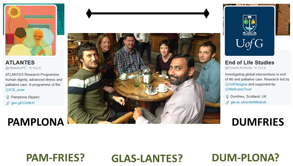 the Atlantes and End of Life Studies teams meeting in Pamplona