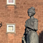 statue of Jean Armour in Dumfries, Scotland