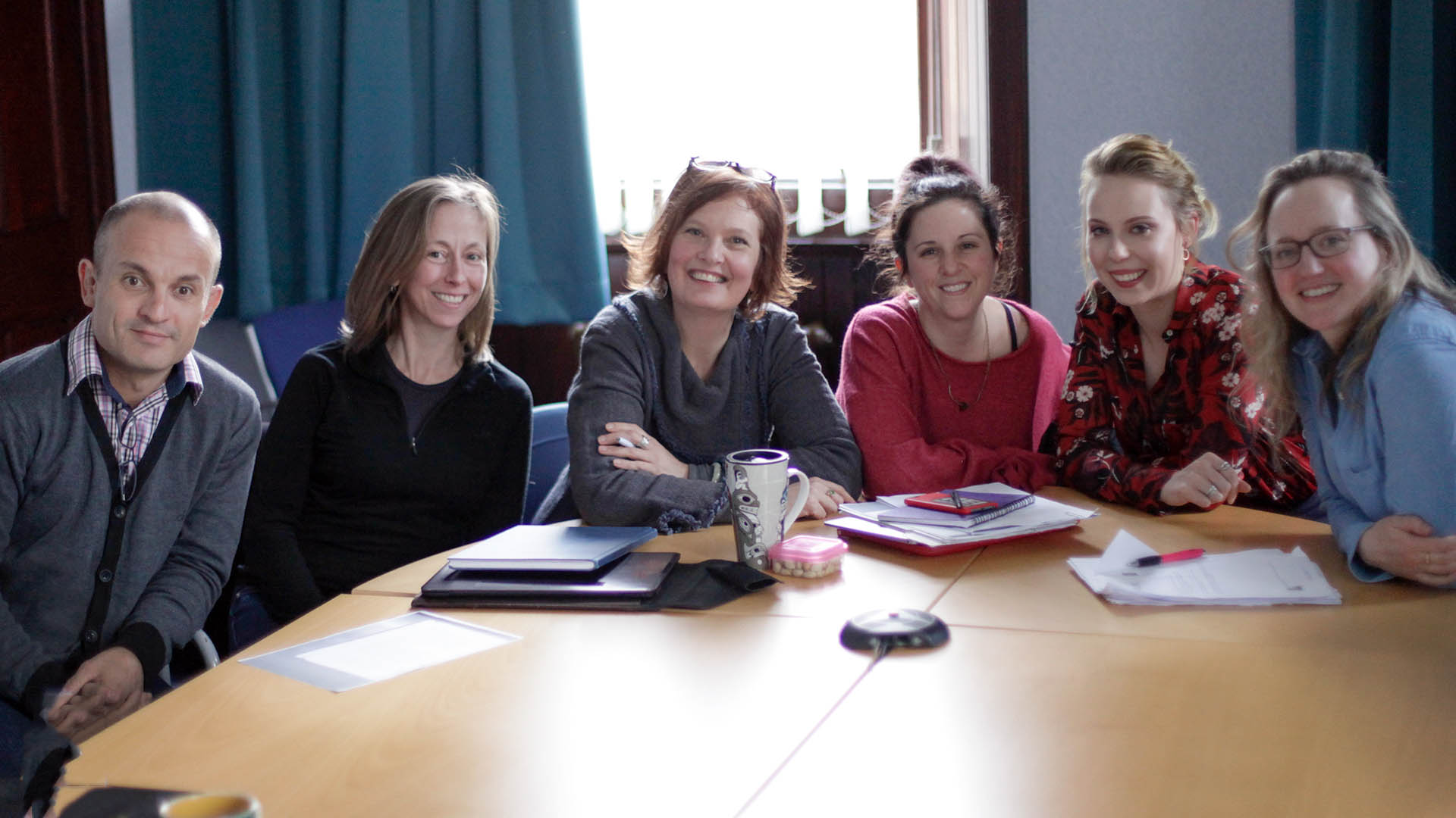 members of the Glasgow End of Life Studies Group during a Reading and Writing Death workshop in Dumfries, Scotland