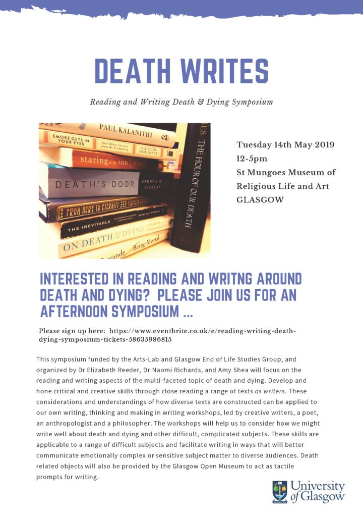 Death Writes - Symposium Poster